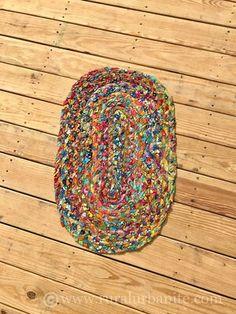 The Easiest Version of a Rag Rug — Rural Urbanite The Easiest Version of a Ra. The Easiest Version of a Rag Rug — Rural Urbanite The Easiest Version of a Rag Rug Braided Rug Tutorial, Rag Rug Tutorial, Rag Rug Diy, Homemade Rugs, Macrame Bracelet Patterns, Denim Rug, Easy Crafts To Sell, Rug Hooking Designs, Braided Rag Rugs