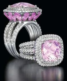 Morganite, Pink Sapphires and Diamonds Ring