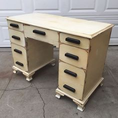 """Gorgeous shabby chic vintage desk $165. Dimensions: W44 x H31 x D22"""" Local San Diego Affordable Furniture. Email mondaymarqt@gmail.com To Purchase. Curbside delivery is $20 anywhere in the local SD area. . . #Sandiego #furniture #furnituredesign #sandiegofurniture #sandiegoliving #northpark #southpark #ilovesd #lajolla #delmar #dtsd #homedecor #interiordesign #decor #upcycle #refurbish #vintagefurniture #antique #boho #airbnb #beachlife #carmelvalley #momdaymart #lajollalocals…"""
