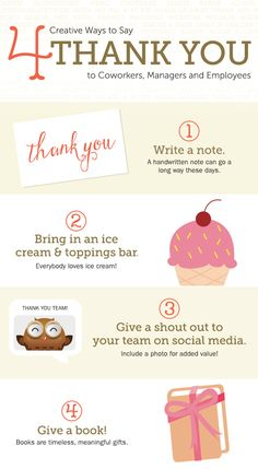 4 Creative Ways to Say Thank You to Coworkers, Managers, and Employees