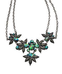 Theorem Jewelry Gunmetal Green Galaxy Bib