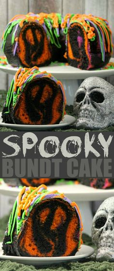 This spooky bundt cake is bound to be the hit of any Halloween party. If you love surprise inside cakes, this one is super easy to pull off - easy enough to get your little ghouls involved in making it.