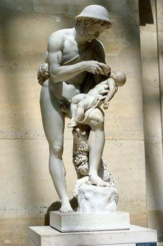 Oedipus and Phorbas. 1818. Antoine Denis Chaudet. Louvre museum.