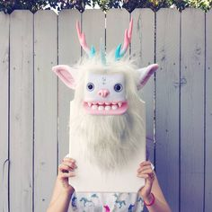 cute yeti wall head for decor - Pesquisa Google