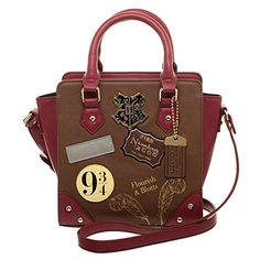 Find Harry Potter 9 Deluxe Mini Brief Handbag Purse Satchel online. Shop the latest collection of Harry Potter 9 Deluxe Mini Brief Handbag Purse Satchel from the popular stores - all in one Mochila Harry Potter, Sac Harry Potter, Harry Potter Badges, Harry Potter Gifts, Harry Potter Hogwarts, Harry Potter Clothing, Mini Handbags, Purses And Handbags, Ladies Handbags