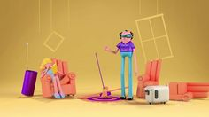 TCL - Led TV by Plenty. The renowned Argentinean agency La Comunidad entrusted us with directing an extremely interesting project: the launch of TCL's new LED TV. The idea consisted in introducing a family of five: dad, mom, two kids and their dog.
