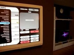 Star Trek - like home computer: An overlay interface for multiple applications that controls a range of devices around the home.