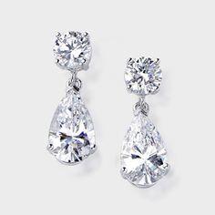 Dressy Earrings Pear Dropscubic Zirconia