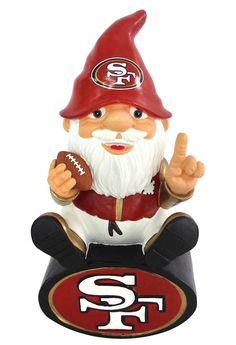 San Francisco 49ers Garden Gnome - On Team Logo