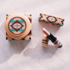 kit mac vibe tribe batom matte + blush - maquiagem mac