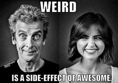 capaldi and coleman in black and white
