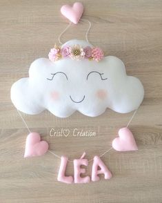 Baby Bedroom Girls Bedroom Felt Crafts Baby Crafts Baby Decor Felt Decorations Bridal Shower Decorations Photographing Babies New Baby Gifts Baby Crafts, Felt Crafts, Diy And Crafts, Crafts For Kids, Sewing Crafts, Sewing Projects, Felt Name Banner, Baby Shawer, Diy Baby