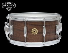 """Gretsch USA Custom 130th Anniversary Snare • Claro Walnut • 14""""x6.5"""" (10 lugs) • Specifications: Limited to 30 drums ; SD: Lightning Throw-off"""