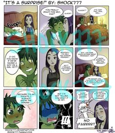 part 3 of my ongoing little BBRAE mini-series I had a lot of fun making this page XD; as usual it takes HOURS to make. I really enjoy making them. It's a Surprise Teen Titans Raven, Teen Titans Go, Raven Beast Boy, Original Teen Titans, Bbrae, Drawn Art, Marvel Dc Comics, Raven Comics, Held
