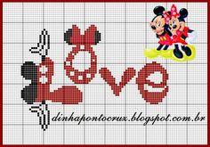 Monograma completo do mickey confira aqui: http://dinhapontocruz.blogspot.com.br/2015/01/monograma-mickey-by-dinha.html