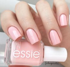 "essie:  ""'steal his name' and his heart with this gorgeous light pink polish from essie bridal 2016.  """
