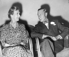 Mary, the Princess Royal, Countess of Harewood, with her brother, David, the Duke of Windsor.