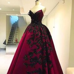 Modest Quinceanera Dress,Burgundy Ball Gown,Sequins Prom Dress,Fashion Prom Dress,Sexy Party Dress, New Style Evening Dress