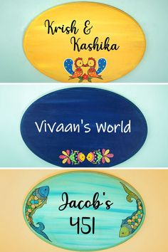 Hand-Painted Oval Shape Madhubani Design Name Plates for your Home Entryway. Available in a number of monochromatic colors and traditional madhubani designs for an Indian touch to your Home Decor Diy Crafts For Home Decor, Diy Arts And Crafts, Handmade Home Decor, Name Board Design, Name Plate Design, Paper Wall Art, Diy Wall Art, Wooden Art, Wooden Decor