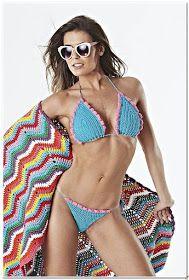 Recetas-De tejidos - Recetas antiguas de la Abuela : Bikinis en crochet Babe, Beachwear, Swimwear, Love Crochet, Shorts, Crochet Bikini, String Bikinis, Ideias Fashion, Cover Up