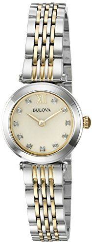 Bulova Women's Quartz Stainless Steel Dress Watch (Model: 98P154) Bulova http://www.amazon.com/dp/B01AJFXD4K/ref=cm_sw_r_pi_dp_Ux7Zwb14YKC97
