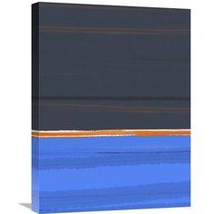 Naxart 'Stripe Orange' Painting Print on Wrapped Canvas Size: