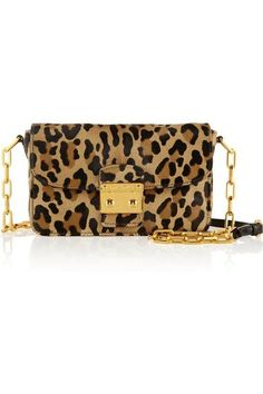 aa5d1129e45 Bandoliera leopard-print calf hair shoulder bag If only we were rich