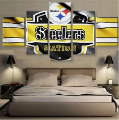 Pittsburgh Steelers Sport Art Wall Home Abstract Decor Canvas Picture Printing Pittsburgh Steelers Football, Steeler Nation, Sports Art, Canvas Pictures, Man Cave, Prints, Steelers Apparel, Florida Gators, Home Decor
