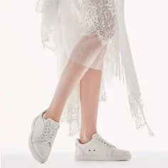Christian Louboutin bridal sneakers | One Fab Day Best Bridal Shoes, Bridal Flats, Wedding Boots, Wedding Heels, Sparkly Flats, High End Shoes, Ballerina Pumps, Exclusive Shoes, Pretty Ballerinas