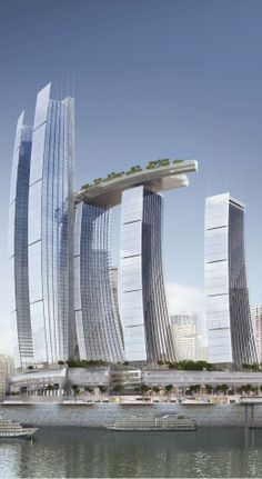 ARCHITECTURE - Chongqing Chaotiamen Tower, Raffles City, Chongqing, China by Moshe Safdie and Associates Architects :: 78 floors, height 347m