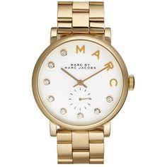 MARC BY MARC JACOBS 'Baker' Crystal Index Bracelet Watch, 37mm