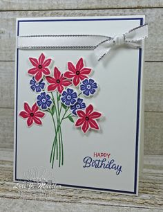 StampItHop-SummerLove . Beautiful Bouquet stamp set . Stampin Up