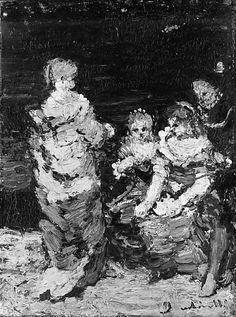 Adolphe_ Joseph Monticelli Four Figures 1840,oil. Met Museum. Gift of Adelaide Milton DeGroot, 1967. Accession number 198. Prov.Adelaide Milton de Groot (by 1936–d. 1967)