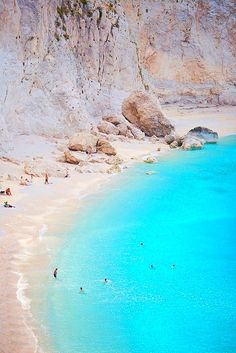White sand and bright blue water, let's go! #Greece