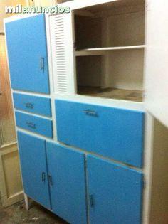 Mueble cocina antiguo alacena armario aparador retro for Muebles de cocina anos 80