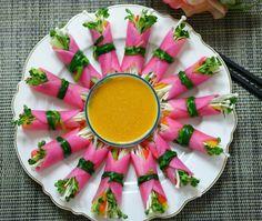 Salad Rolls, K Food, Cafe Food, Korean Food, Finger Foods, Food Hacks, Food Styling, Asian Recipes, Deserts