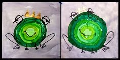 kinder and - value scale frogs Pond Life, Ecole Art, Dragons, Tree Frogs, Art Plastique, Art Lessons, Crafts For Kids, Preschool, Abstract Art