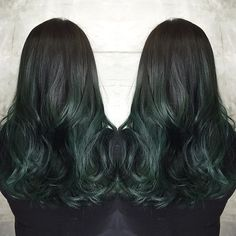 hunter green hair color and thick