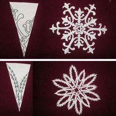 Snowflake Cutting Pattern 4