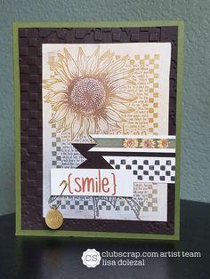 Sepia Sunflowers | Rockin Paper Scissors and Glue