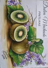Fruit Painting, Tole Painting, Fabric Painting, Village Drawing, Fabric Paint Designs, Fruit Art, Christmas Paintings, Fall Flowers, Pictures To Paint
