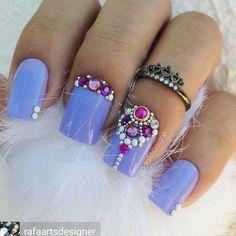 Glam Nails, Dope Nails, My Nails, Nail Polish Art, Gel Nail Art, Acrylic Nails, Pretty Nail Designs, Diy Nail Designs, Bio Sculpture Nails