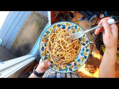 ) of the four classic Roman pasta dishes, carbonara. It's made with eggs, pecorino Romano cheese, black pepper, and guancia. Mayo Pasta Salad Recipes, Easy Healthy Pasta Recipes, Vegetarian Pasta Salad, Healthy Pastas, Carbonara Recipe Authentic, Easy Carbonara Recipe, Pasta Carbonara, Butter Sauce For Pasta, Recipes Using Egg