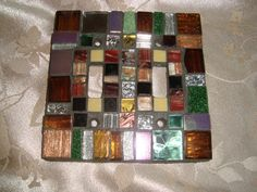 MOSAIC LIGHT SWITCH Plate Cover  Double Earth by victoriacharlotte