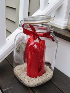 Luminaries - the cover can open to let air in, but covers the candle in case it rains or snow.