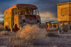 Car Photography,truck photo, abandoned, HDR, route 66, milk truck, by ScrofanoPhotography on Etsy