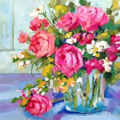 """Daily Paintworks - """"New management"""" - Original Fine Art for Sale - © Libby Anderson"""