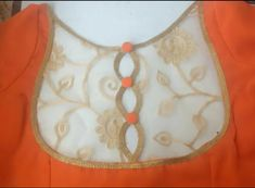 Back neck pattern with net material Simple Blouse Designs, Saree Blouse Neck Designs, Stylish Blouse Design, Dress Neck Designs, Kurta Designs, Latest Blouse Designs, Designer Blouse Patterns, Neck Pattern, Neckline