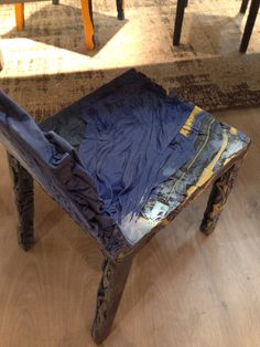 Saturated clothing chair..
