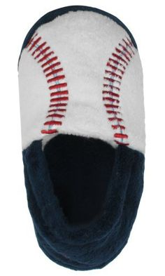 Capelli New York Baseball Embroidered Moccasin Toddler Boys Indoor Slippers  Navy Combo 4 5 Capelli New York.  7.95 097de493c890